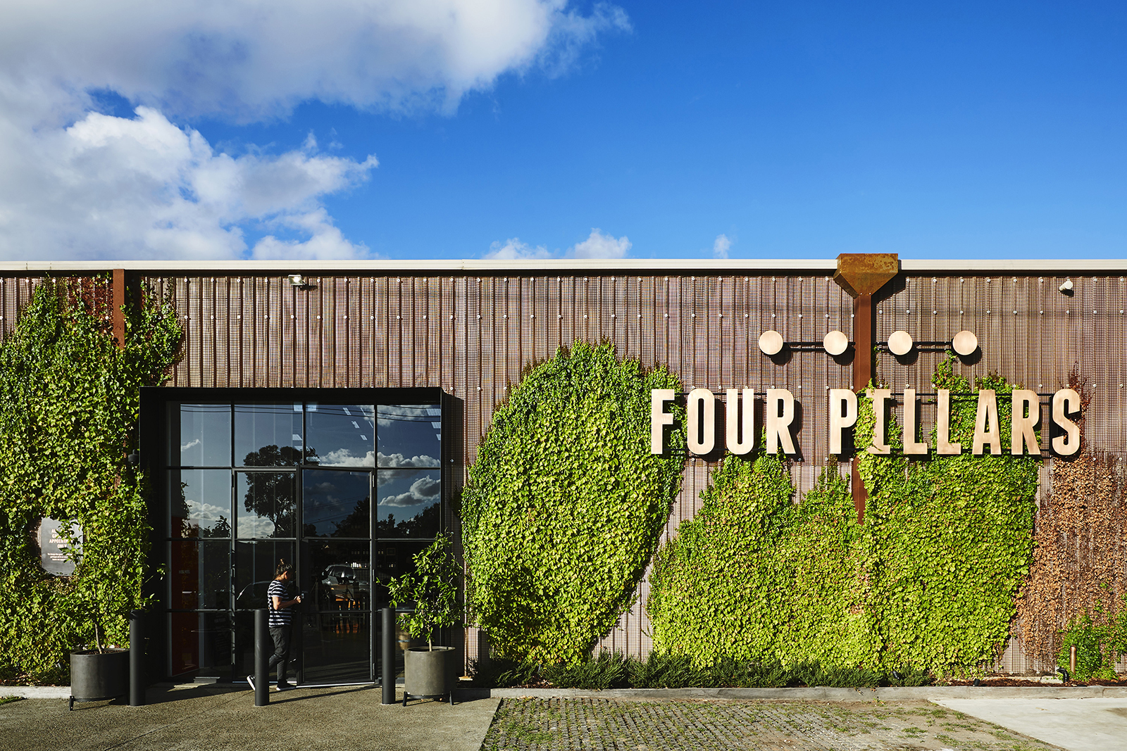 An outside image of the Four Pillars gin distillery