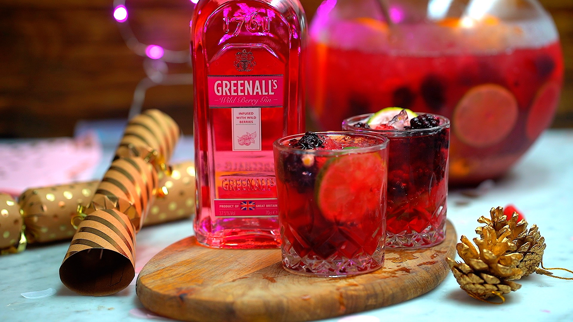 Two servings of Greenall's Wild Berry Gin and Prosecco Punch