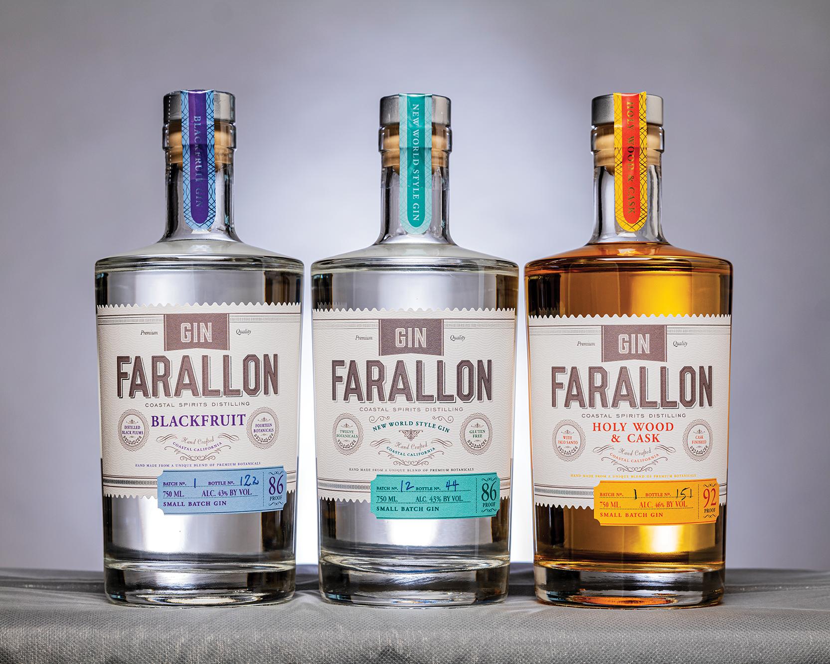 The Gin Farallon range from Coastal Spirits