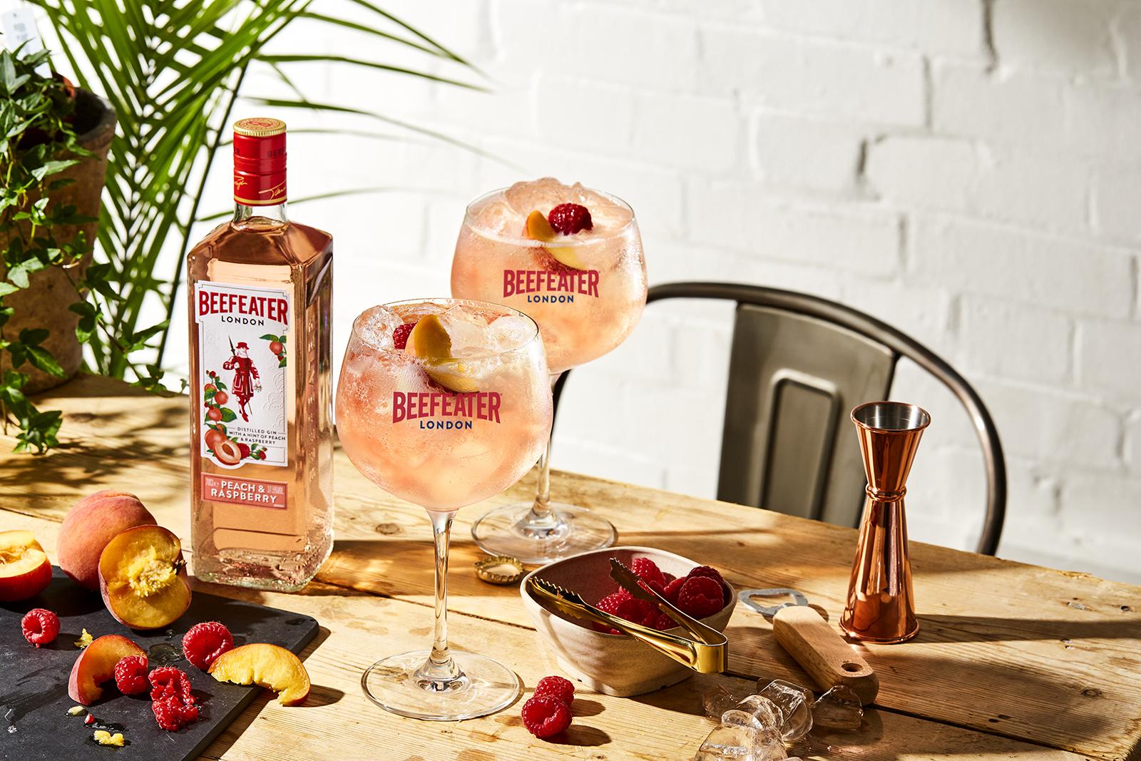Beefeater Peach & Raspberry Gin serve