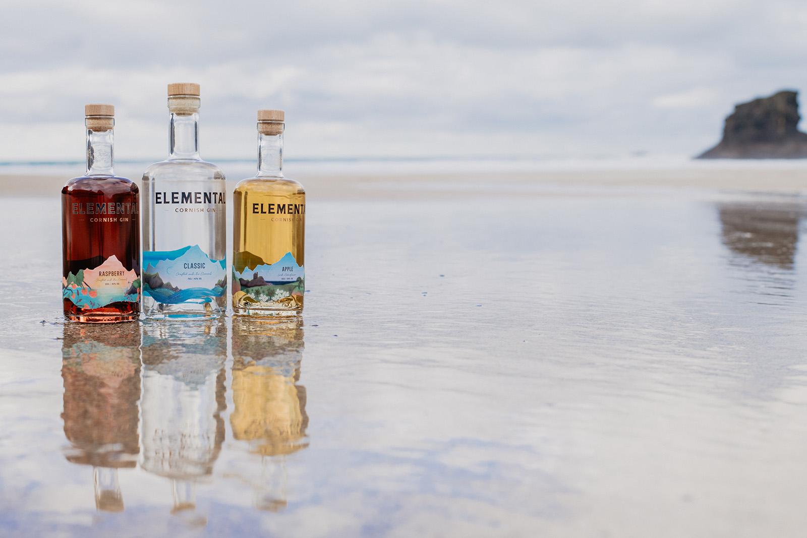 Elemental Cornish Gin range