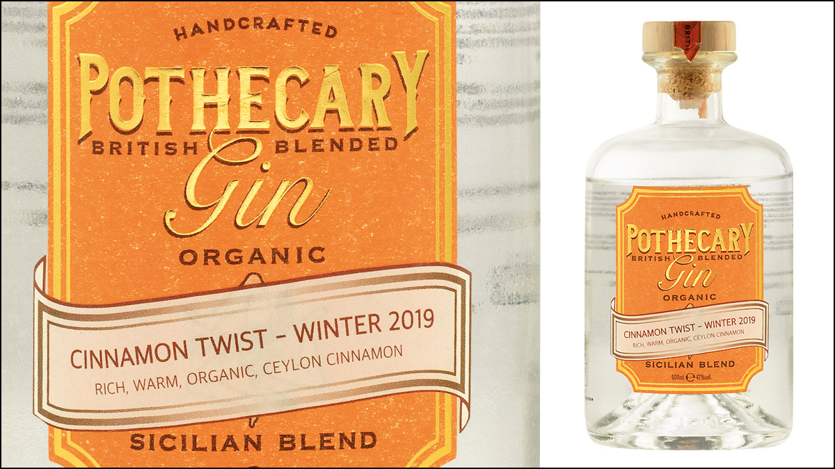 Pothecary Gin Cinnamon Twist Winter 2019