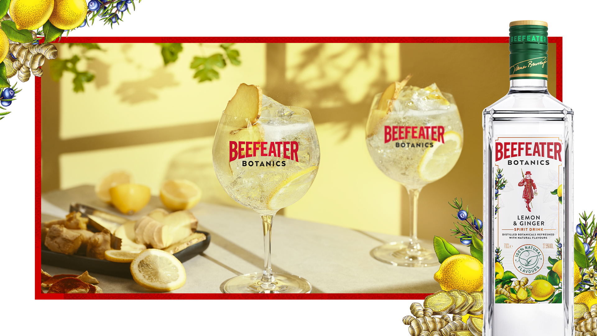 Beefeater Botanics Lemon & Ginger