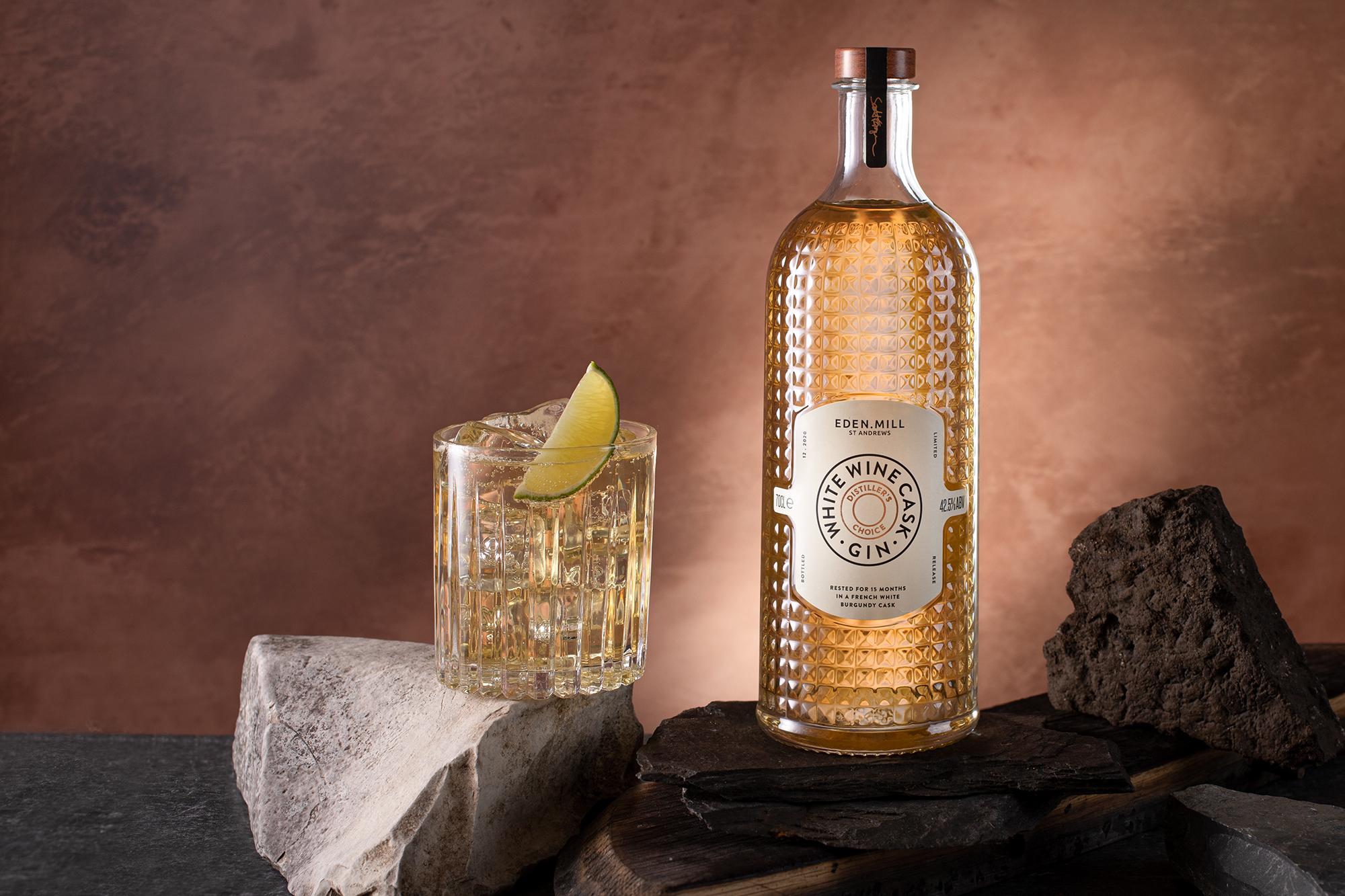Eden Mill Distiller's Choice White Wine Cask-Aged Gin perfect serve