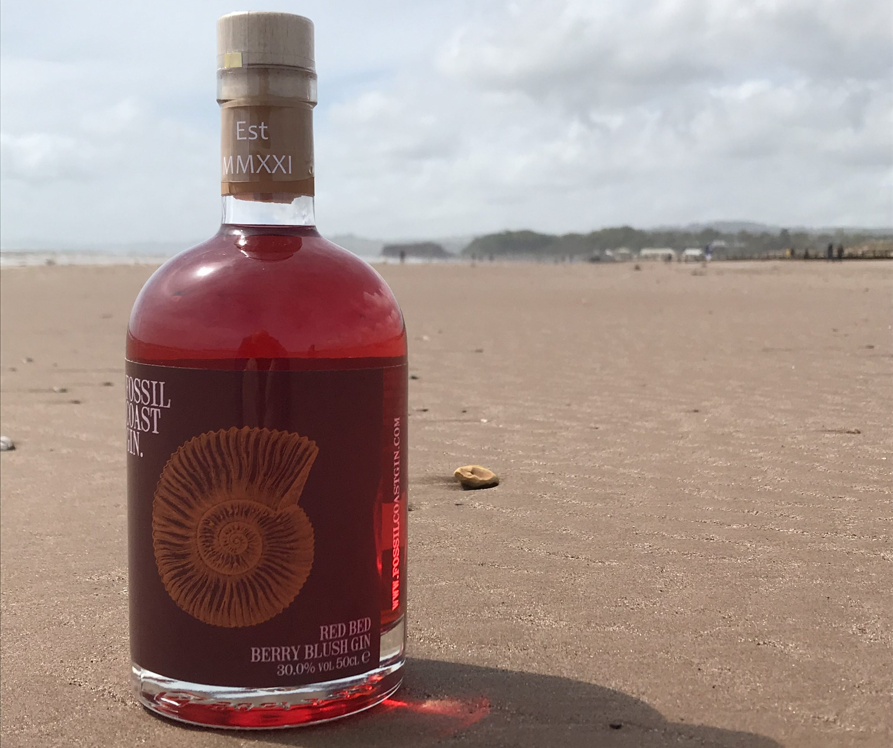 Red Bed flavoured gin from Fossil Coast Gin