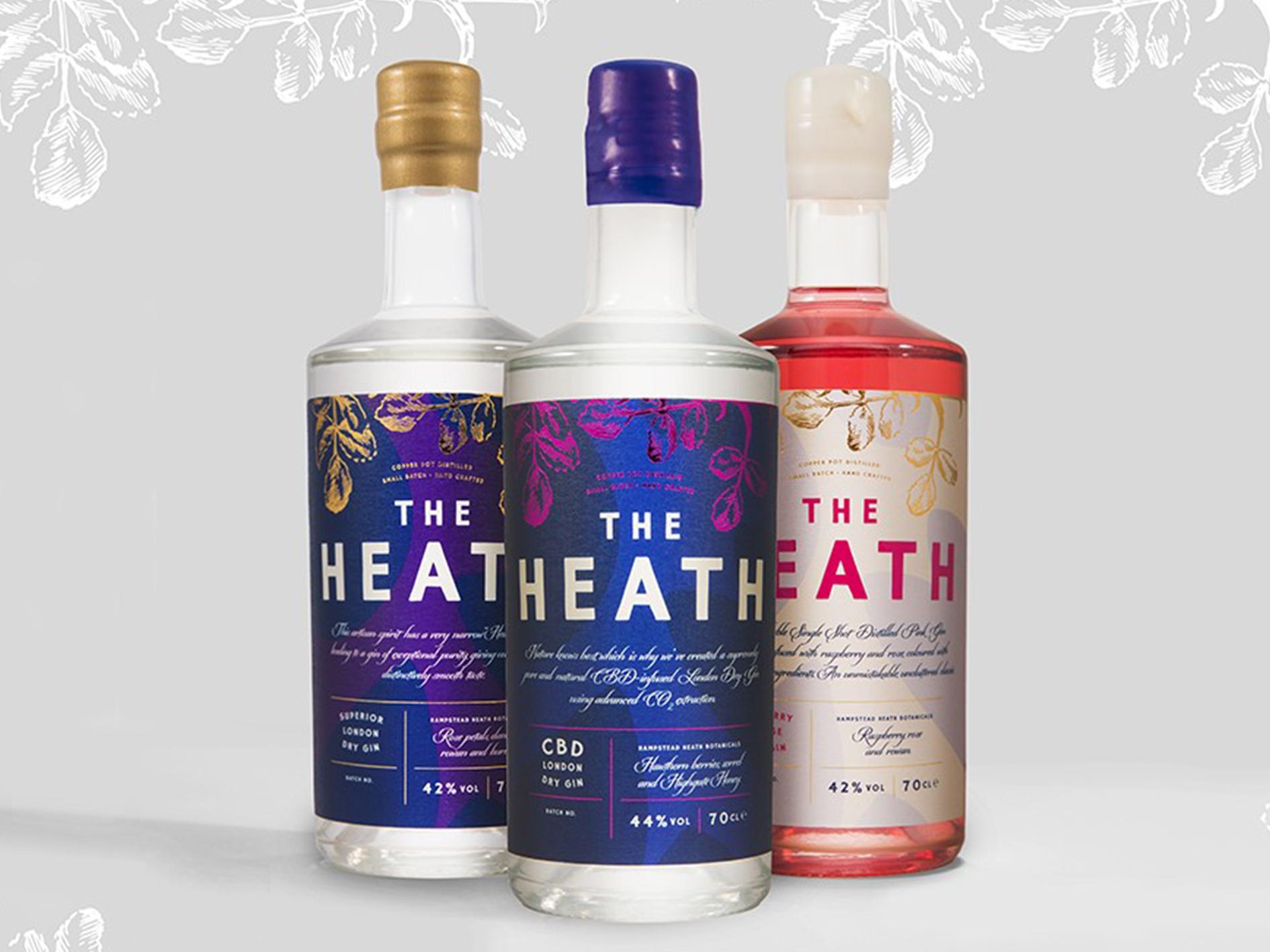 The Heath gins range
