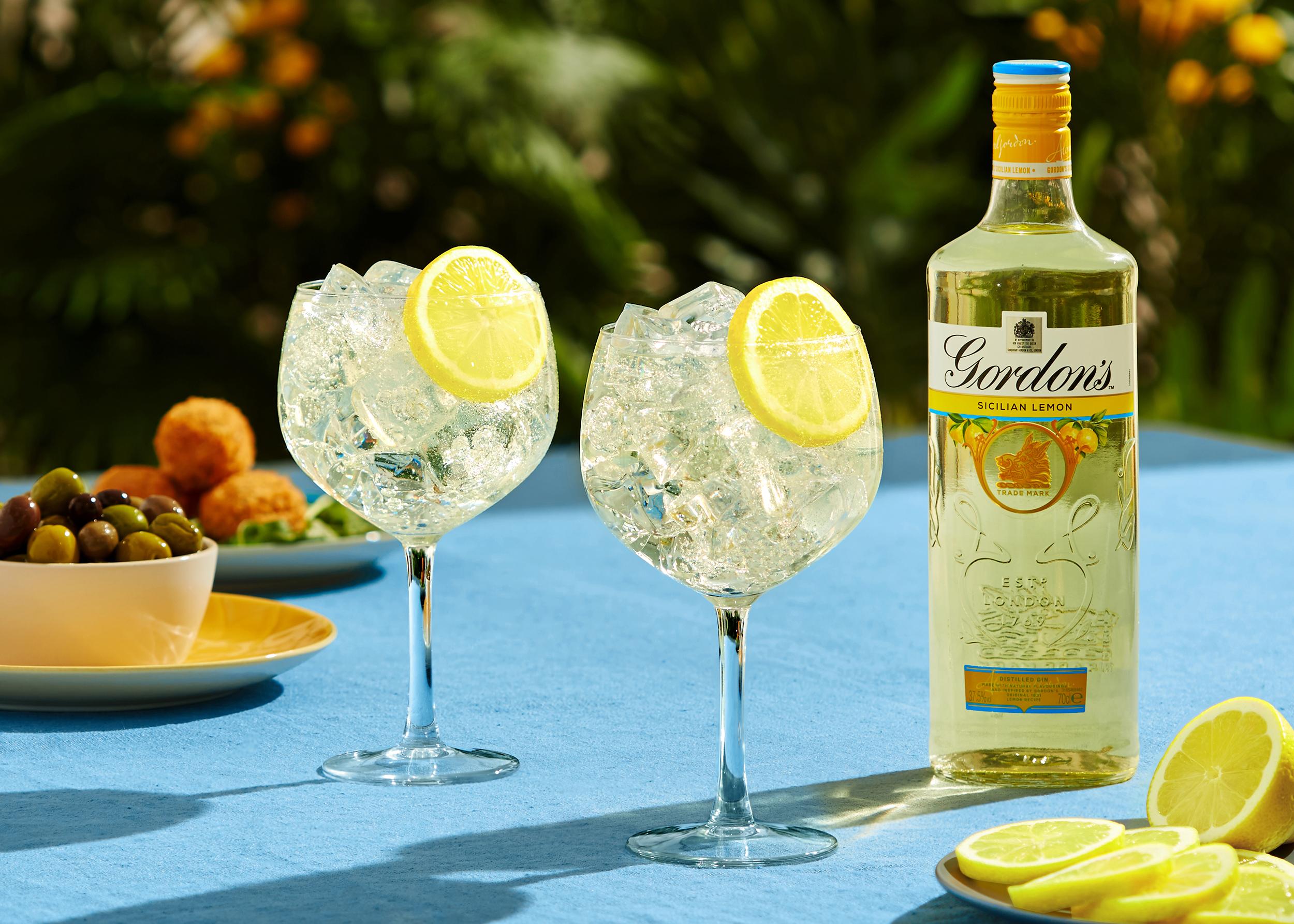 Gordon's Sicilian Lemon Gin cocktail
