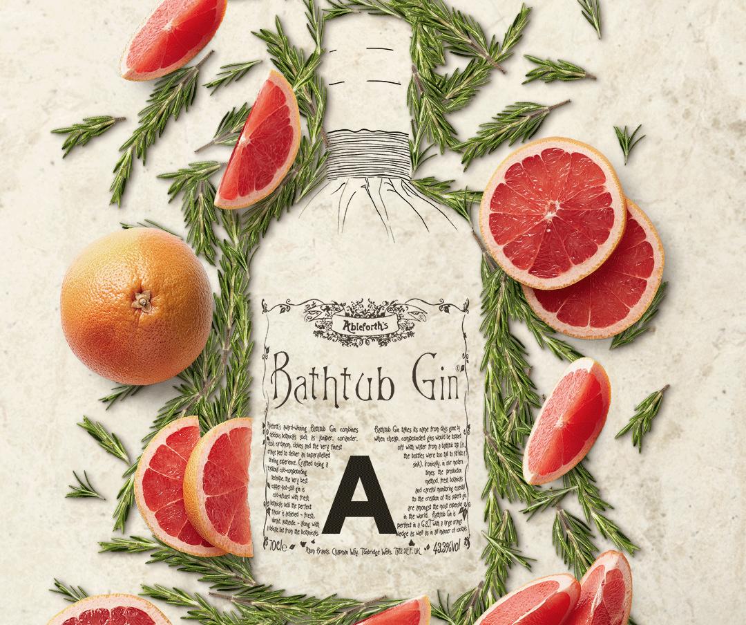 Bathtub Gin Grapefruit and Rosemary