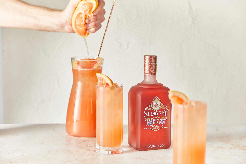 Slingsby Gin Rhubarb and Grapefruit Spritz sharer
